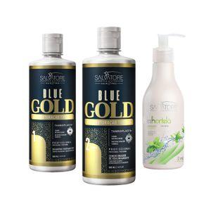Blue Gold 500ml Tradicional + Condicionador Fresh Hortelã 300ml