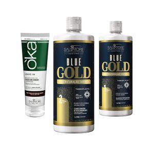 Blue Gold 1 L Tradicional + Leave-in Oka Coco